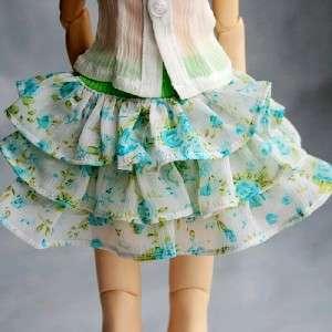 05# Green Skirt/Dress/Outfit 1/3 SD DZ BJD Dollfie