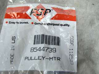 Whirlpool Dryer Motor Pulley 8544739 NEW