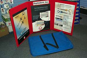 PORTABLE TABLE DISPLAY WITH HARD AND SOFT CASE