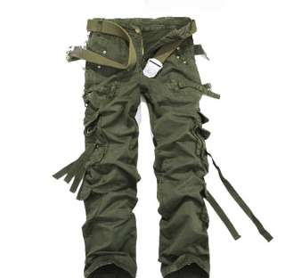 MENS CASUAL MILITARY ARMY CAMO COMBAT CARGO PANTS TROUSERS SIZE 29 34