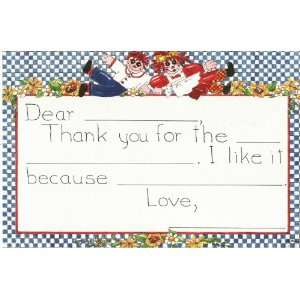 Rag Dolls / Raggedy Ann & Andy Thank You Notes Toys & Games