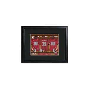 Personalized College Football Locker Room Print Sports