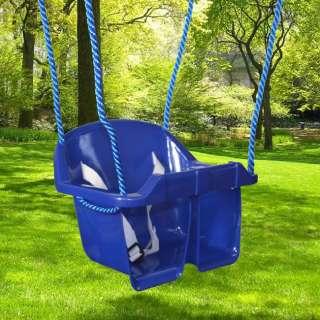 Toddler Kid Bucket Swing Set Outdoor Safety Belt Playset BLUE