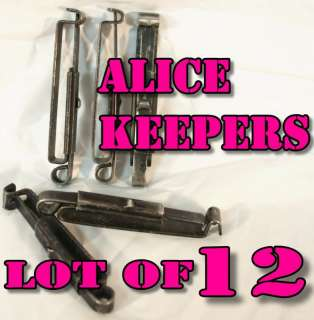 ALICE CLIPS Lot of 12 Fits Army Pistol Belt Field Gear