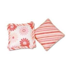 Picci Hippy Flowers Pillow   Flowers & Stripes