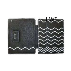 for Target Leather Apple IPAD 2 Case Black White ZigZag Embroidery