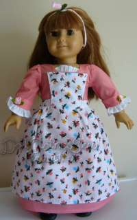 Pinner Gown Set fits American Girl Felicity Doll L@@K