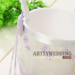 Embroidery Crystal Flower Girl Basket For Wedding Day U Pick