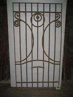 PAIR OF100+ YEAR OLD ART NOUVEAU WROUGHT IRON GATES