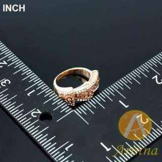 Arinna topaz rose gold GP Swarovski Crystal finger Ring