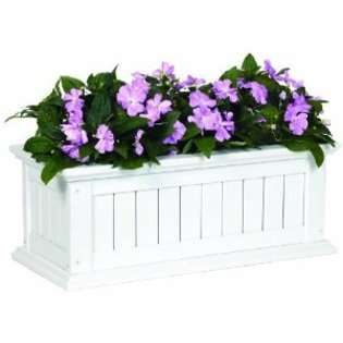 DMC 70824 Window Box   36 Inch Nantucket Solid Wood   Black at