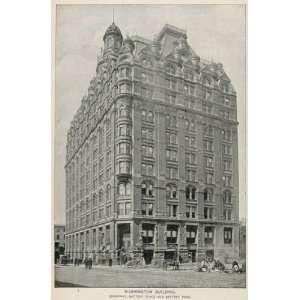 Washington Building Broadway New York City   Original Halftone Print