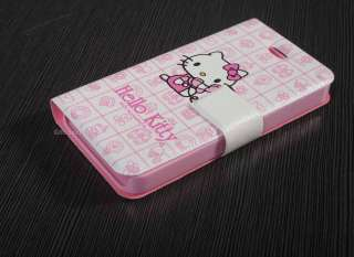 Hello Kitty & Phone Wallet Pouch Leather Case Cover For iPhone 4 4G 4S