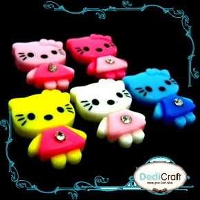 pcs) Assorted Hello Kitty Crystal Girl Flatback Cabochon Scrapbooking