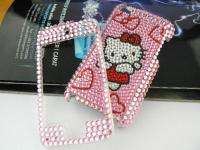 HELLO KITTY CAT pink red Crystal handmade FULL Case for Apple iPod
