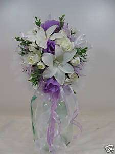 COMMUNION/WEDDING /BRIDAL/FLOWER GIRL BOUQUET ~SILK~