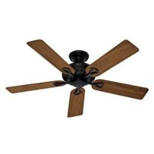 Traditional Energy Star Indoor Matte Black Ceiling Fan