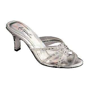 Shoes Holly Slide   Clear Lucite/Silver  Metaphor Shoes Womens Dress