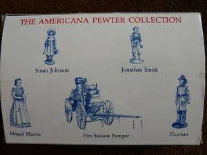 THE AMERICANA PEWTER COLLECTION 5 MINIATURE FIGURINES