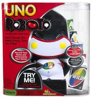 UNO Roboto Card Game   Mattel