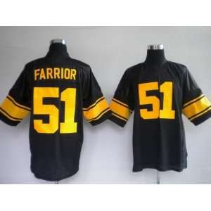 pittsburgh steelers #51 farrior black with yellow number jersey