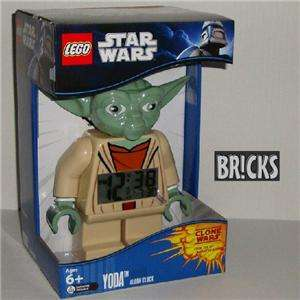 New LEGO Star Wars YODA Minifig Alarm Clock NIB