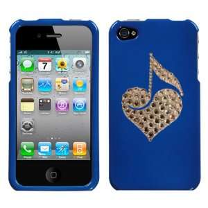 Blue and White Crystal Rhinestone Bling Bling Love Note Music Note