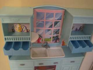 2000 Kitchen Playset loaded with Happy Family 100+ Accessories