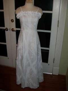 WHITE HAWAIIAN MUUMUU HULA SPAGHETTI STRAP DRESS SIZE SMALL
