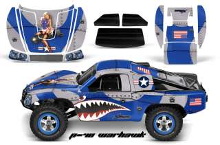 RC GRAPHIC DECAL KIT UPGRADE   TRAXXAS SLASH 4X4 BODY  P40 WARHAWK BL