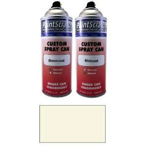 . Spray Can of White Pearl Tricoat Touch Up Paint for 2008 Volvo XC90