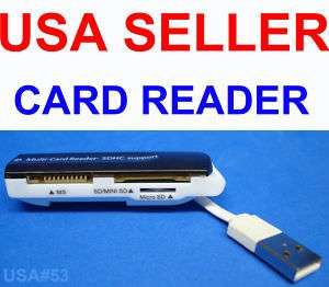 USB VIDEO MEMORY CARD READER MS SD MICRO MINI US SELLER 740617122534