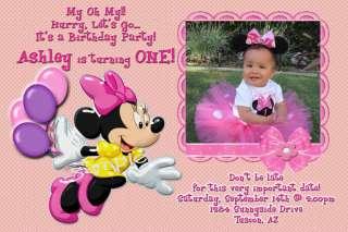 Mickey & Minnie Mouse Personalized Birthday Invitation