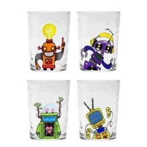 Space Robot Childrens Drinking Glasses / Kids Tumblers, Set of 4   7