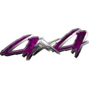4x4 Truck, SUV or ATV Decals Inferno Purple   4.5 h x 12
