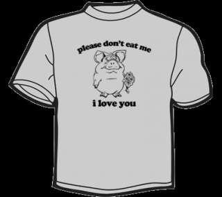 PLEASE DONT EAT ME T Shirt WOMENS funny vintage vegan