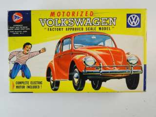 Vintage Pyro Motorized Volkswagen Beetle Car Toy Model Kit 1960s Retro