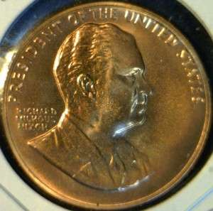 Richard Nixon US MINT INAUGURATED Commemorative Bronze Medal   Token