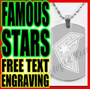 Famous Star and Straps Custom Design Dog Tag Necklace