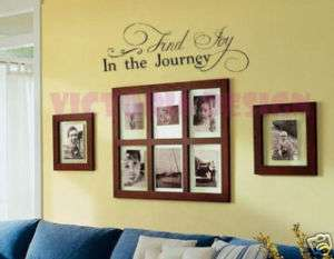 FIND JOY in JOURNEY~ WALL TALK ART VINYL HOME DECOR