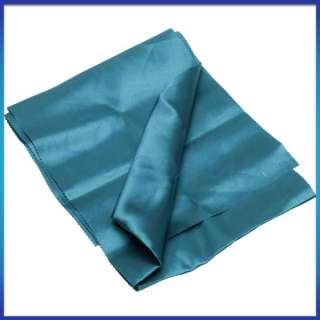 15pcs Satin Table Runners Wedding Party Decor Chair Sash Bow Tie Teal
