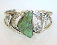 Vintage Old Pawn Dead Pawn Sterling Silver Turquoise Womens Cuff