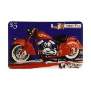 Collectible Phone Card $5. Indian Chief Motorcycle (The