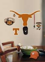 University of Texas Longhorns Peel & Stick Giant Wall Decal w/ Hooks