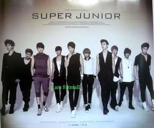 2x SUPER JUNIOR KPOP Authentic POSTER Korean official