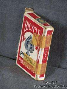 Bicycle Pinochle 48 Playing Cards 1940 1965 Tax Stamp