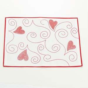 Valentines Day Placemats Hearts 3 Styles Cotton U PIck NEW Fast