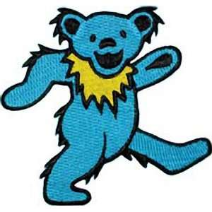 THE GRATEFUL DEAD DANCING BEAR BLUE EMBROIDERED PATCH