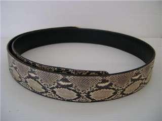 Genuine Python Snake Skin Mens Ladeis Leather Belt W Head One Size