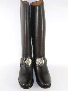 RALPH LAUREN STELLA Black Leather Knee Boot Shoe 6 NIB